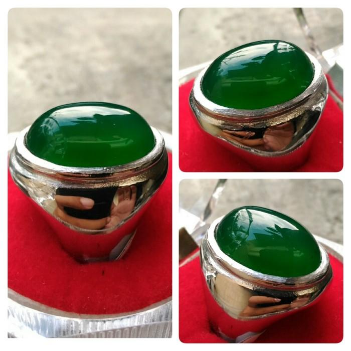harga Cincin batu akik hijau garut chrysoprase super titanium Tokopedia.com