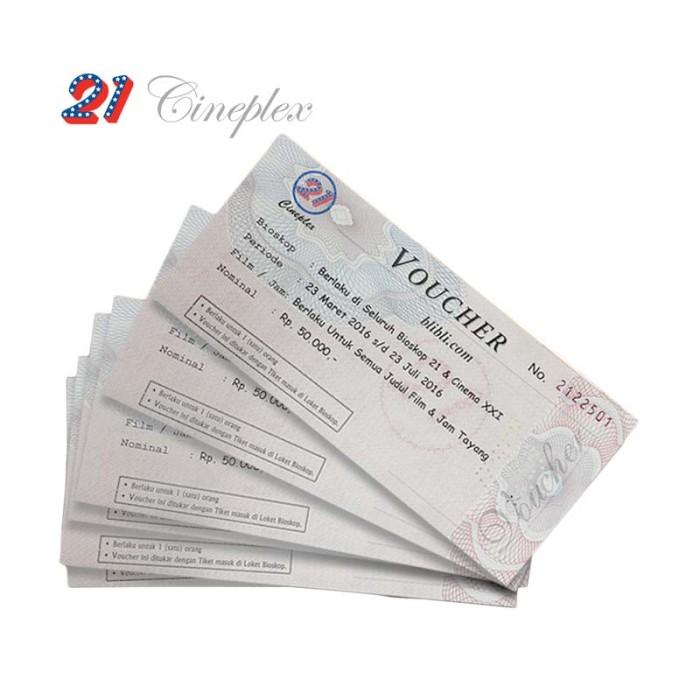 Jual Voucher Xxi 21 Cineplex Rp 50 000 Jakarta Barat Pasto