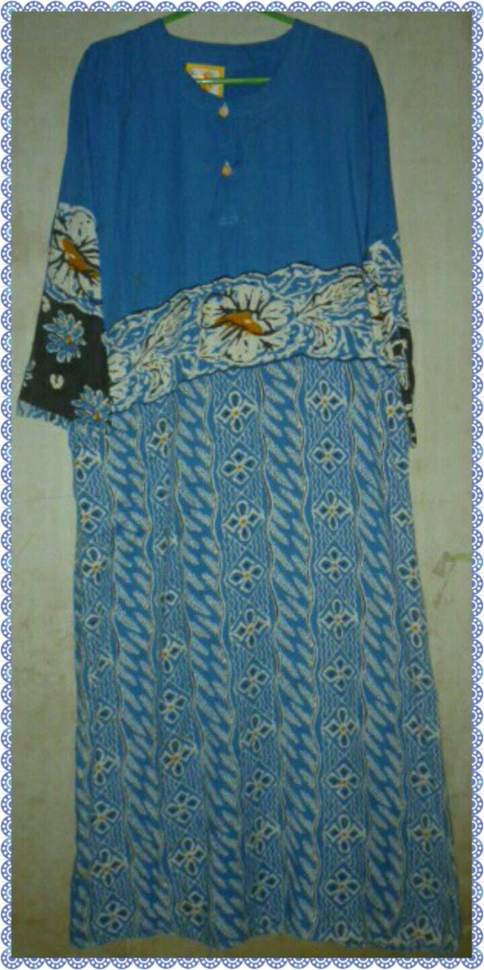 Jual Daster Batik Lengan Panjang Baju Tidur Longdress
