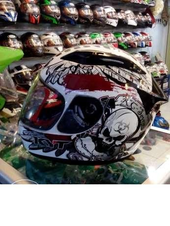 harga Helm kyt rc 7 seven rc7 full face fullface skull white black red Tokopedia.com
