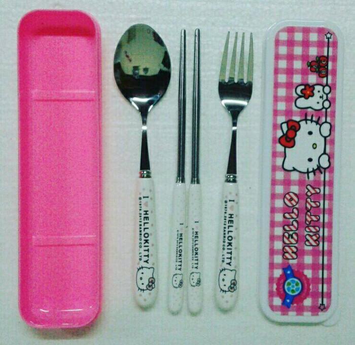 harga Sendok garpu sumpit set dewasa karakter hello kitty