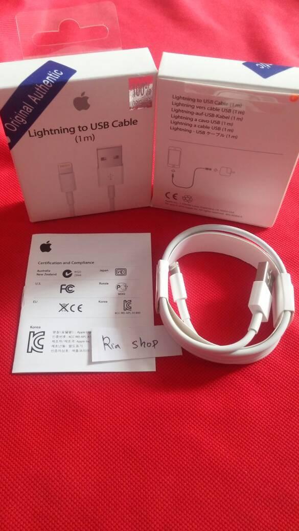... harga Kabel data charger iphone 5 5s 5c 5se 6 6 plus lightning usb original Tokopedia