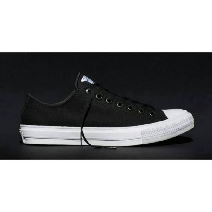 ... harga Sepatu casual converse chuck taylor ii low hitam original asli  murah Tokopedia.com 01b0f264d7