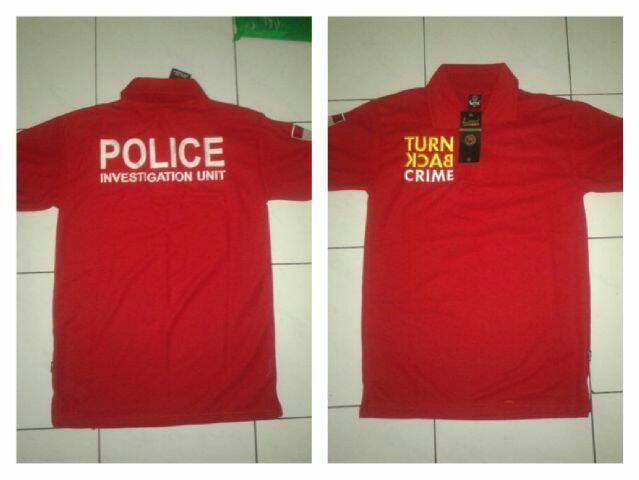 Jual Kaos Polo Turn Back Crime Kaos Tbc Merah Belakang Police