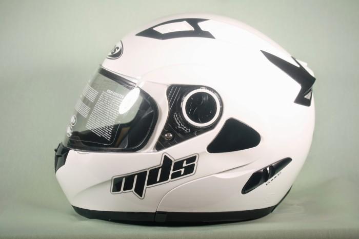 harga Helm mds pro rider white solid flip modular fullface full putih visor Tokopedia.com