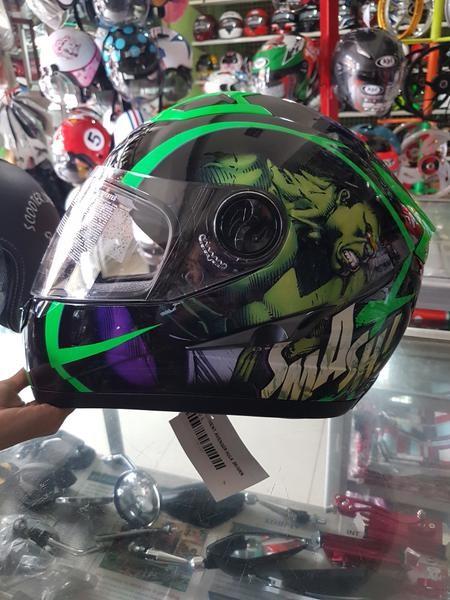 harga Helm mds provent avenger hulk green fullface visor fluo pro-vent Tokopedia.com