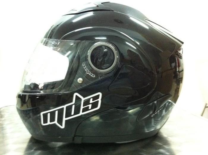 harga Helm mds pro rider black solid flip modular fullface full hitam visor Tokopedia.com