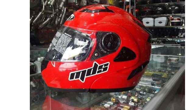 harga Helm mds pro rider red solid flip modular fullface full merah visor Tokopedia.com