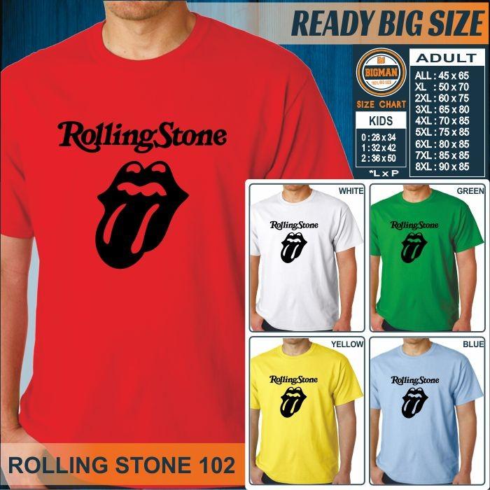 harga Kaos bigsize jumbo rock band rolling stone 102 Tokopedia.com