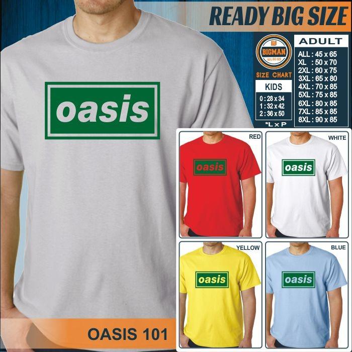 harga Kaos big size jumbo rock band oasis 101 Tokopedia.com