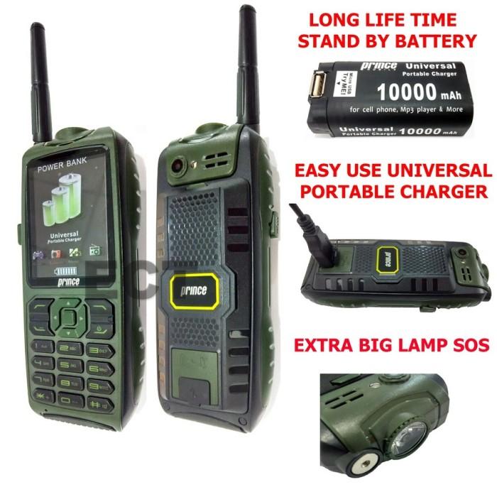 harga Handphone outdoor tangguh pc-9000 3 gsm on bisa powerbank 10000mah Tokopedia.com