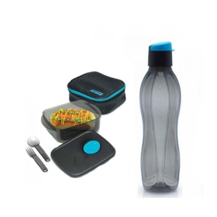 Tupperware Man Meal Set Collection - Hitam