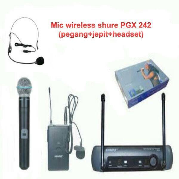 harga Microphone wireless shure pgx-242(mic pegangclip on dan headset) Tokopedia.com