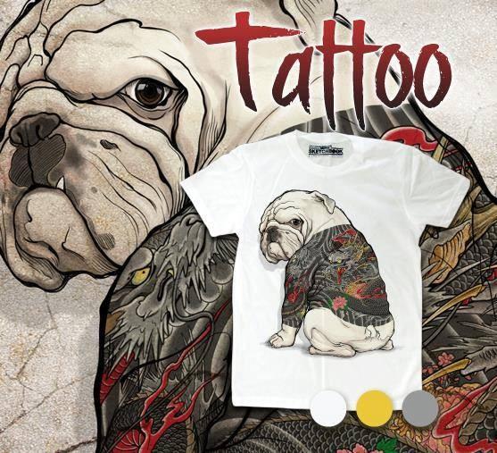 harga Baju kaos import tattoo dog anjing cewek cowok manga cartoon a10 Tokopedia.com