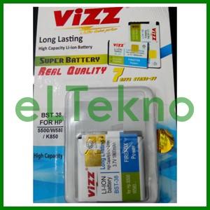Baterai Vizz Sony Ericsson BST 38 W580 K850 5500 Batre Double Power