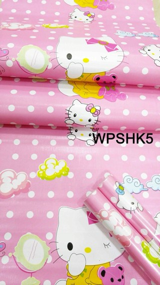 Jual Wallpaper Dinding Stiker Sticker Motif Hello Kitty Pink Dki