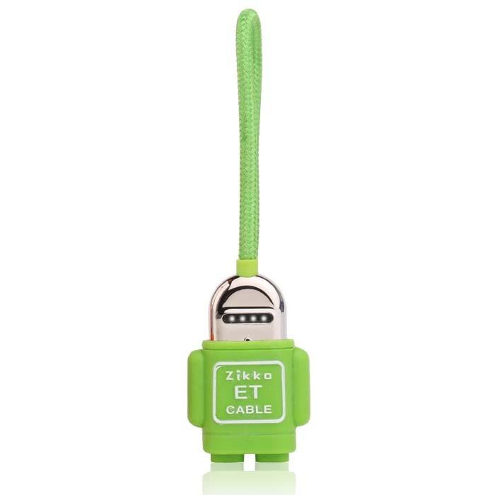 Zikko et lightning to usb cableet-015r15cm - hijau