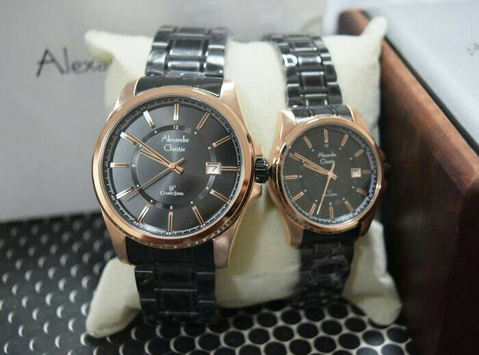 harga Jam tangan couple alexandre christie(ac)8502 blackrose original g-1th Tokopedia.com