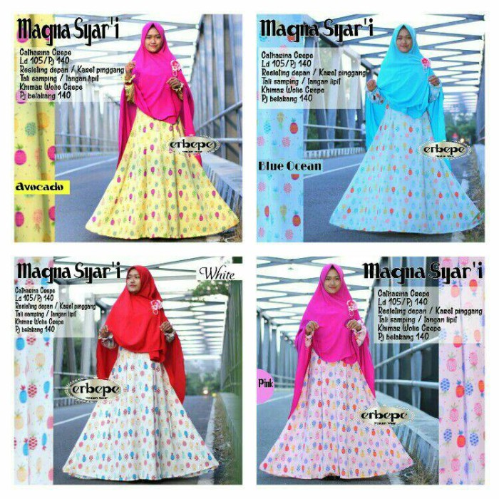GROSIR MURAH BAJU MUSLIM magna dress nanas