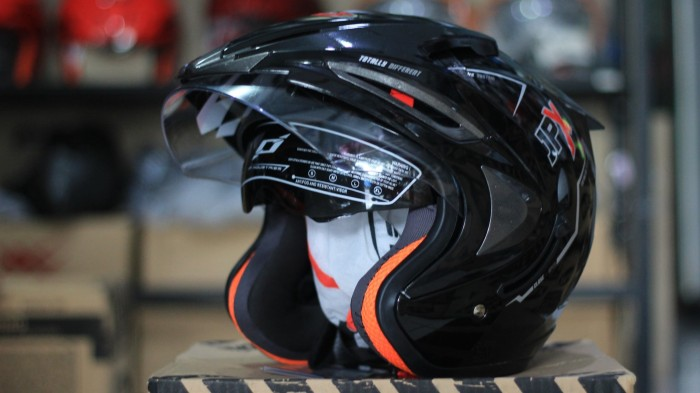 Helm JPX Supreme Black Metalic Amp