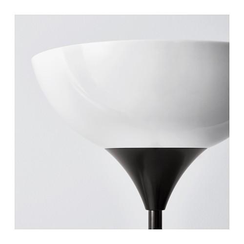 IKEA NOT Lampu lantai sorot atas, hitam, putih
