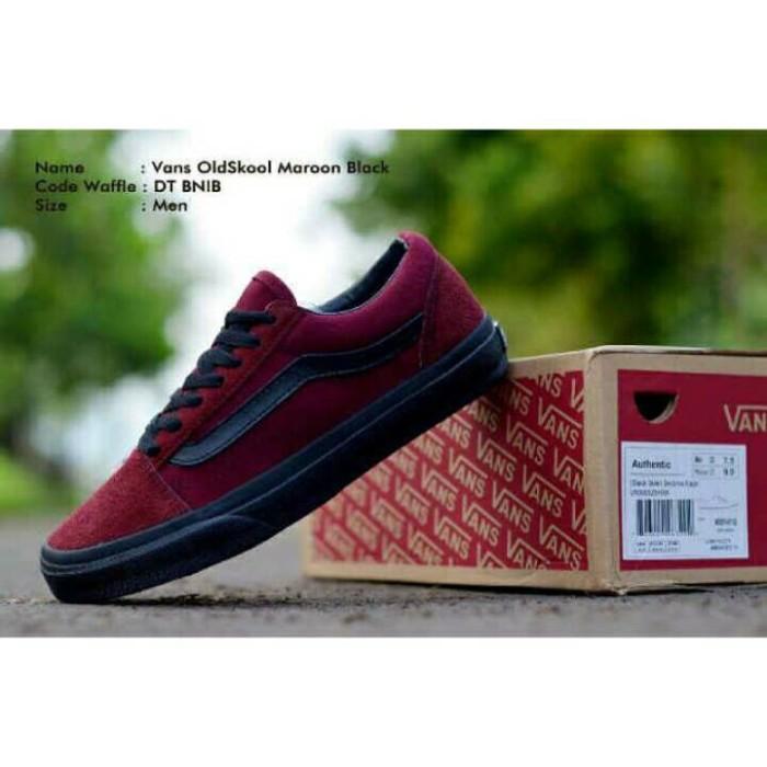 Jual Sepatu Vans Old Skool Maroon Black-Sol Premium Import - GUDANG ... 1068076d6d