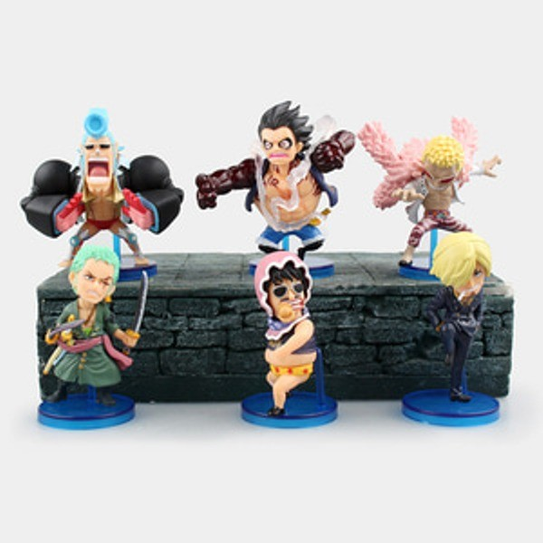 Jual B82 One Piece Set 6 Fight Gear Luffy Zoro Sanji Franky Doflamingo Kota Yogyakarta Figure And Gundam Shop Tokopedia