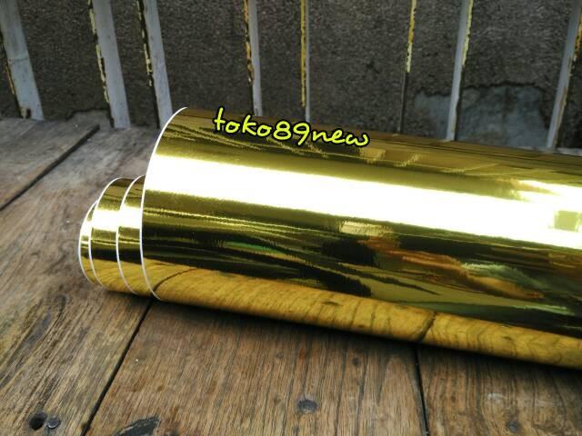 Foto Produk stiker krom emas/ skotlet gold chrome dari toko89new