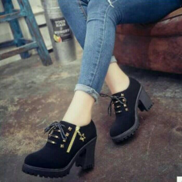 harga Sepatu high heels, wedges, cewek wanita, casual, modis, elegan Tokopedia.com