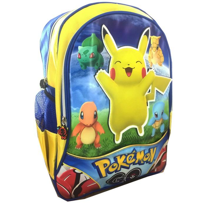 Jual Bgc Pokemon Go Pikachu Topi 3d Timbul Tas Ransel Sekolah Anak Source · Tas Ransel