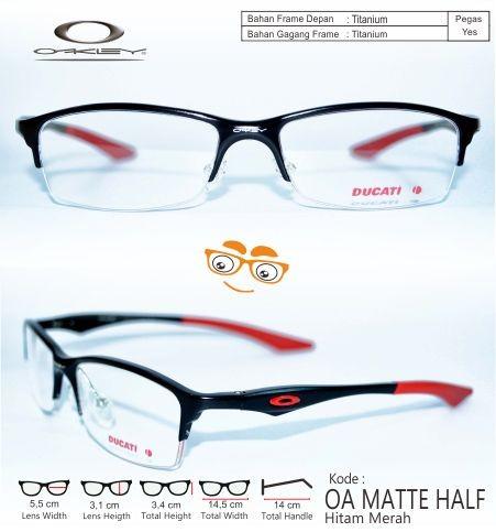 Frame kacamata pria vintage minus oakley matte half hm anti…