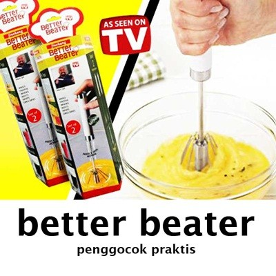 Better beater hand mixer otomatis (manual) harga 1 set=2pcs