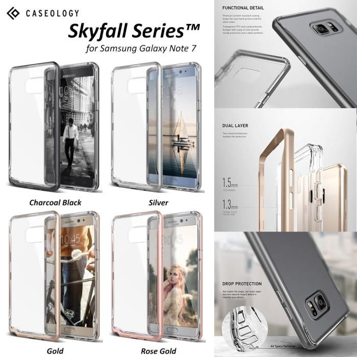 harga Caseology skyfall series samsung galaxy note 7 transparent back bumper Tokopedia.com