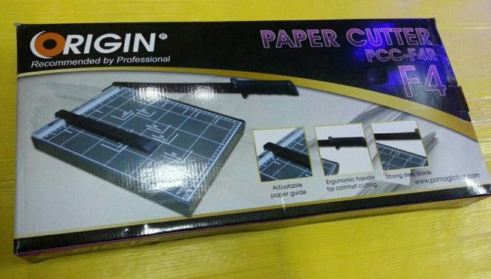 harga Origin Paper Cutter F4r Dark Grey - Alat Potong Kertas Ukuran F4 Tokopedia.com