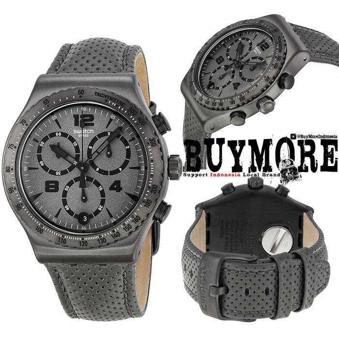 Swatch YVM400 Original - Swatch Irony Chrono Kulit - Jam Tangan Pria