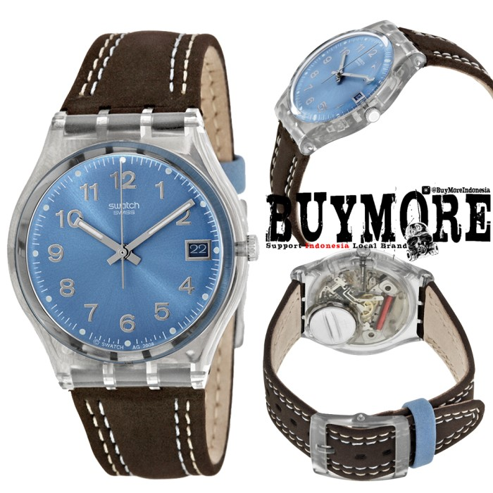 Swatch GM415 Original - Jam Tangan Pria Wanita - Swatch Kulit - Brown