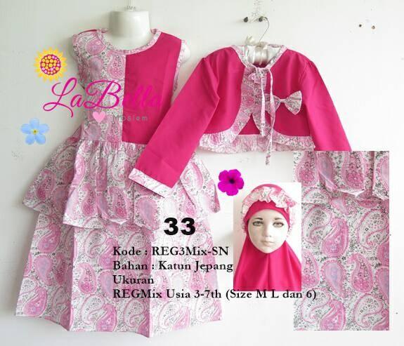 harga Dress Muslim/baju Muslim /gamis Anak Kardigan  Labella 3,4,5,6 Tahun Tokopedia.com