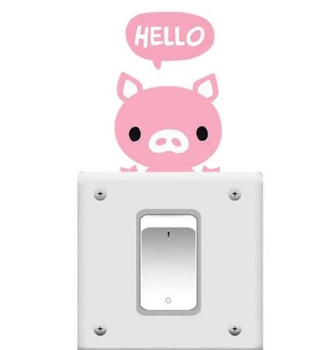 Foto Produk Sticker Saklar / stiker saklar / tombol lampu 002 - hello pink dari Cantiggi