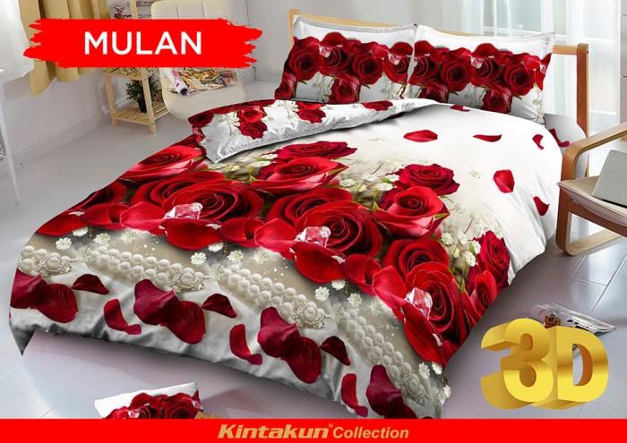 Bedcover D'luxe Kintakun ukuran 160 x 200 - Mulan