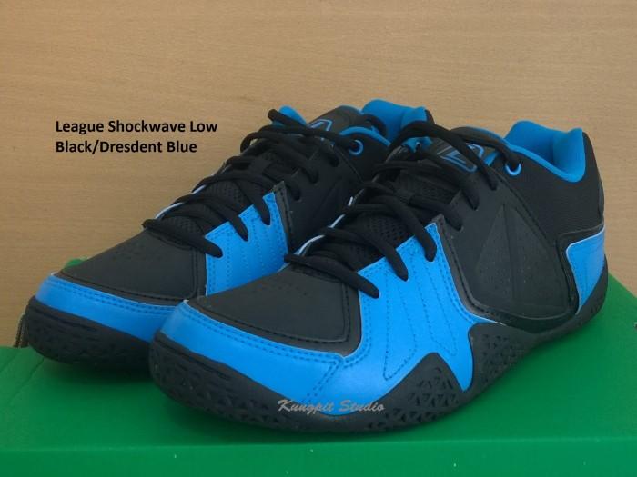 harga Sepatu basket original league shockwave low black/dresdent blue Tokopedia.com