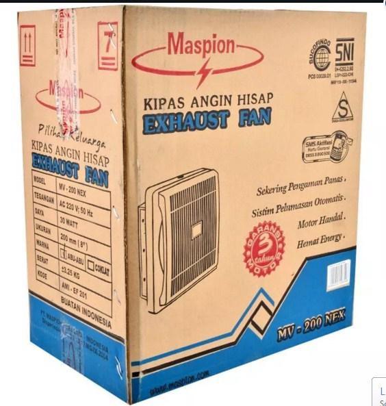 harga Maspion mv-200nex exhoust fan 8 inch kipas angin hisap dinding tembok Tokopedia.com