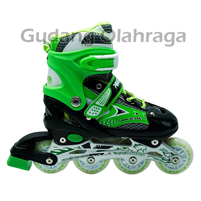 Jual Jual Sepatu Roda Dewasa dan Roller Skate Anak Murah warna hijau ... 18505beb84