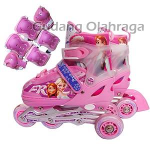 Jual Jual set Sepat+pelindung Roda Inline Skate FROZEN Model BAJAJ ... 2b131c9335