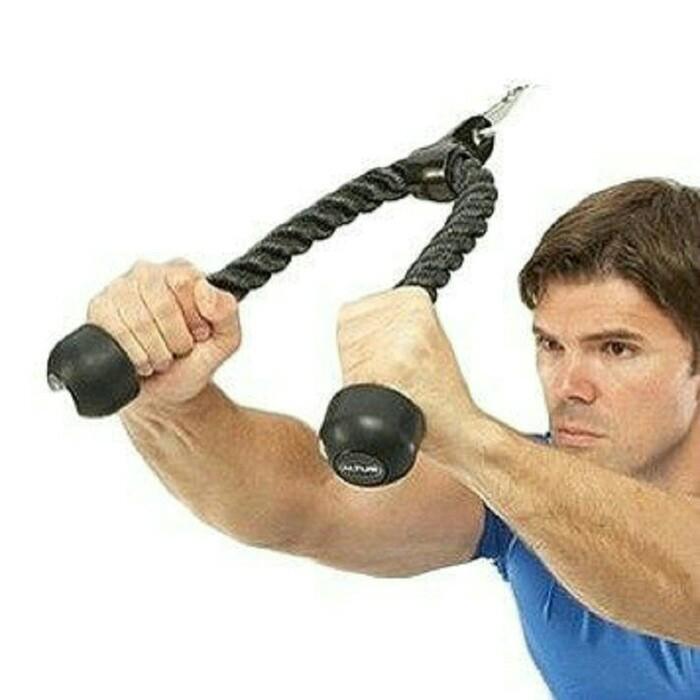 Foto Produk Triceps muscle exercise rope tali latihan tricep fitness workout gym dari Toko JayaSukses
