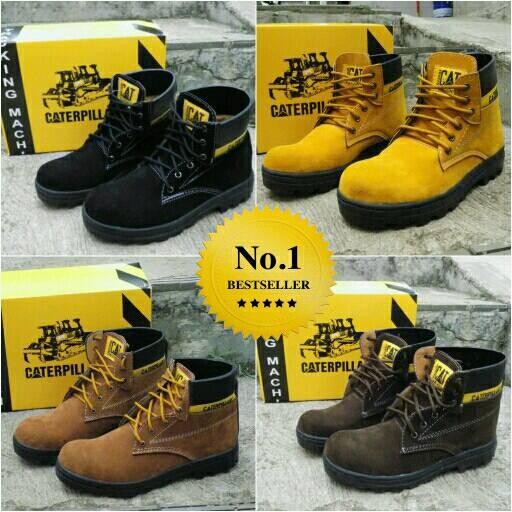 Foto Produk sepatu sefty boots caterpillar dari z1ra shoes