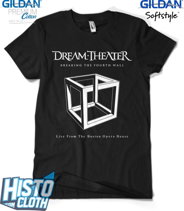 harga Kaos band rock dream theater breaking the fourth wall - dt32 bk Tokopedia.com