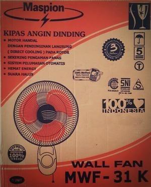 harga Maspion mwf-31k wall fan 12 inch - kipas angin dinding gantung tembok Tokopedia.com