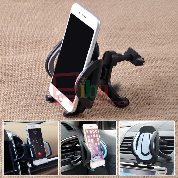 harga 360 car air vent cradle mount holder stand for mobile phone - black Tokopedia.com