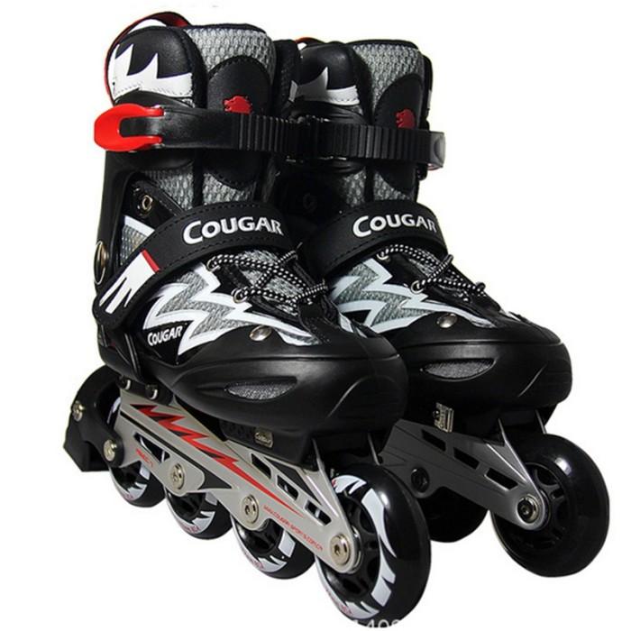 Sepatu Roda dewasa COUGAR Inline Skate MZS835L Balck Silver murah ori 029a63555b