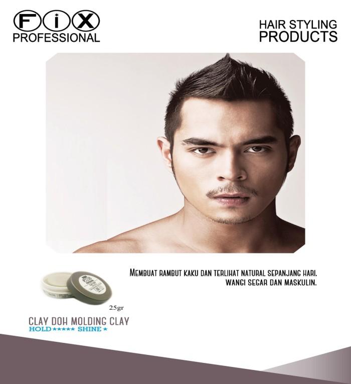 harga [ hair wax / pomade ] fix professional clay doh 25gram original 100% Tokopedia.com